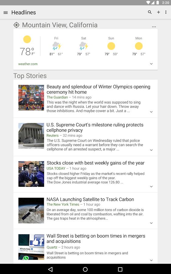 Новости и погода для андроид скачать